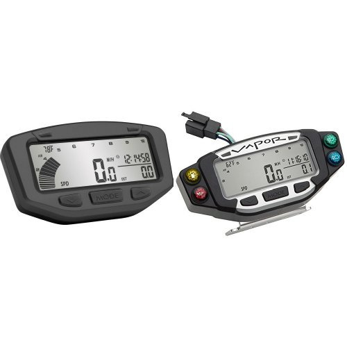 Vector Speedometer - Trail Tech 752-700 Black Vapor Stealth Computer and Trail Tech 022-PDA Vapor/Vector/Striker Indicator Dashboard Bundle