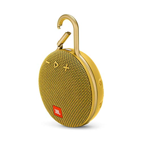 JBL Clip 3 Portable Waterproof Wireless Bluetooth Speaker - Mustard Yellow