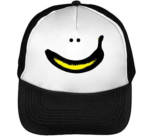 Smile Negro Gorras Hombre Beisbol Snapback Blanco rvrxqfFw