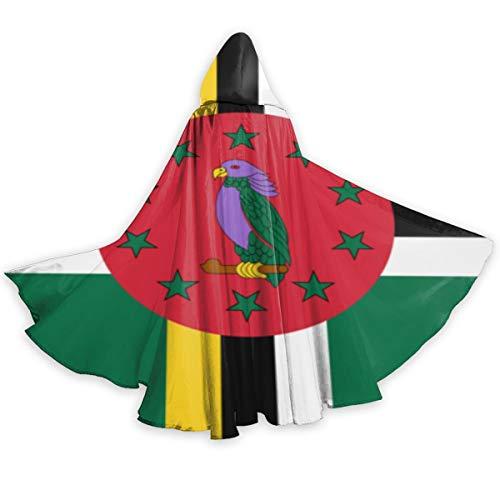 Adult Cloak for Halloweenn Flag of Dominica
