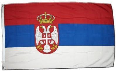 XXL Bandera Serbia con escudo 150 x 250 cm: Amazon.es ...