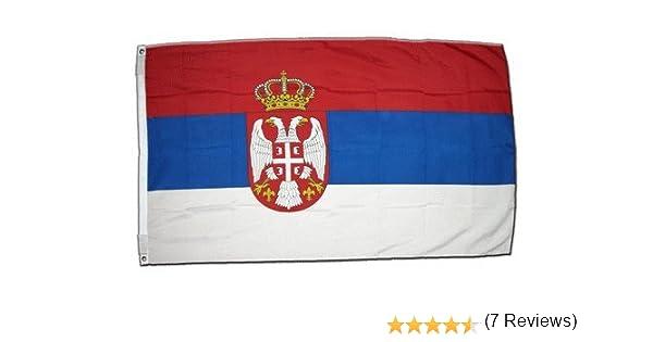 XXL Bandera Serbia con escudo 150 x 250 cm: Amazon.es: Deportes y aire libre