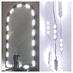 Could not really see what you are doing in the mirror when applying make up or curling hair because of bad lighting?The DIY Light Kits Perfect solution for your makeshift vanity, To make your own Hollywood style mirrorWith new led cover and u...