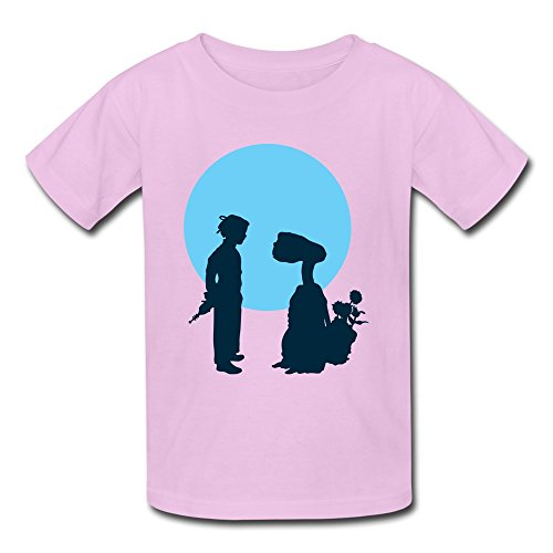 [JeFF Kid's E. T. The Extra·Terrestrial O-neck Young Boys' And Girls' Unisex Tee Shirt Small Pink (US] (Customes Halloween Maternity)