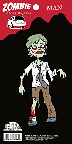 [Zombie Family Car Stickers Vinyl Auto Decal, Man] (Zombie Family Decals)