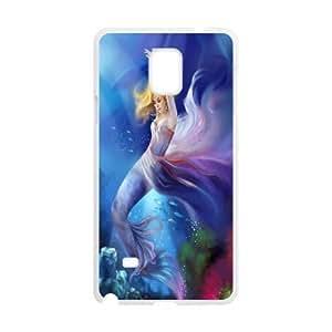 C-Y-F-CASE DIY The Little Mermaid Pattern Phone Case For samsung galaxy note 4
