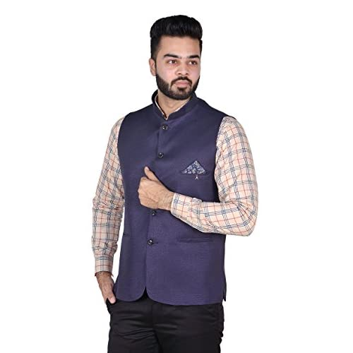 41ldOvDcLbL. SS500  - OORA Men's Cotton Blend Woven Nehru and Modi Jacket