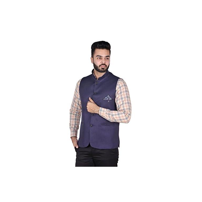 41ldOvDcLbL. SS768  - OORA Men's Cotton Blend Woven Nehru and Modi Jacket