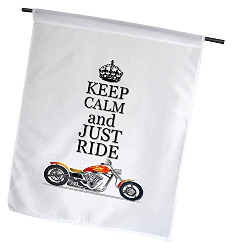 """Keep Calm and Just Ride. Cool Motorcycles Saying Polyester 1'6"""" x 1' Garden Flag fl_220704_1"""