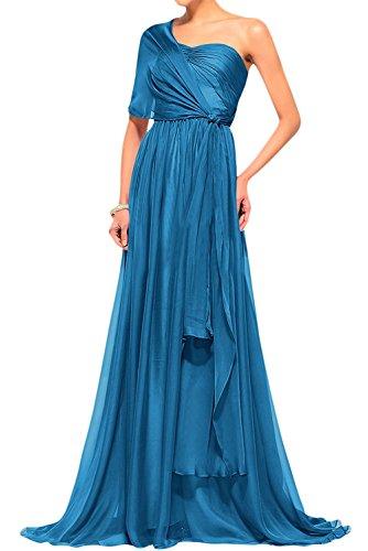 Cocktailkleider Navy Blau Abschlussballkleider Ballkleider Dunkel Festlichkleider Abendkleider Langes Blau Braut Chiffon Damen mia La pUaxqTw1vn