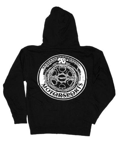 K/&N 88-11952-XXXL Black XXX-Large Sweatshirt with K/&N Wheels Logo K/&N Engineering