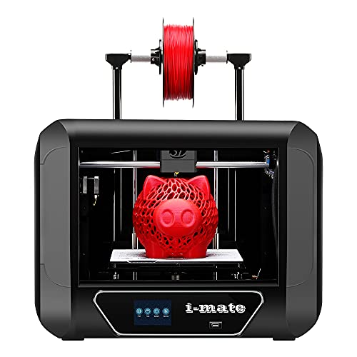 R QIDI TECHNOLOGY i Mate 3D Printer, Metal Frame,with Upgrade Extruder and Professional Software,Print Out of Box…