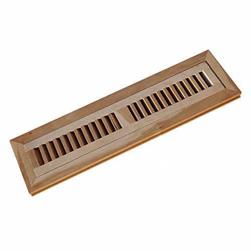 WELLAND Hardwood Flush Mount Floor Register Vent Unfinished,2 inch x 10 inch,American Cherry