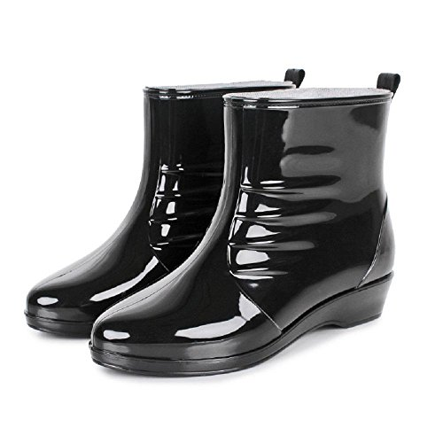 Noir Pluie Femme Pour Casual De Bottes 160wqf