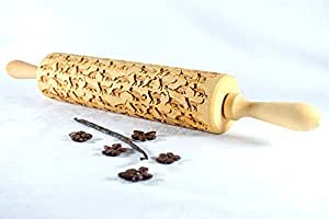 STODOLA Beautiful Cats - Engraved rolling pin for Embossed cookies 16.9-inch