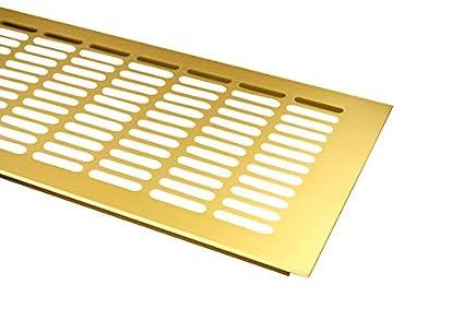 Rejilla de ventilaci/ón de aluminio Rejilla Varios Colores 150/mm x 400/mm Blanco