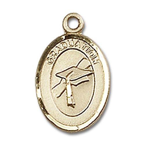 14kt Gold Graduation Medal Pendant, 1/2 Inch by Unknown