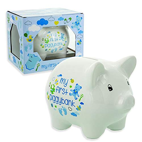 Baby Essentials My First Piggy Bank for Boy by -