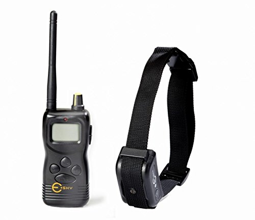 Esky 1000M Dog Training Collar Range Waterproof Rechargeable LCD Remote Shock Control Dog Training Collar System (Esky Control)