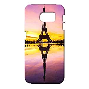 Samsung Galaxy S6 3D Phone Case Breathable Watertight Graph Cover Back Snap on Samsung Galaxy S6 The Eiffel Tower Under Sunset Mobile Shell