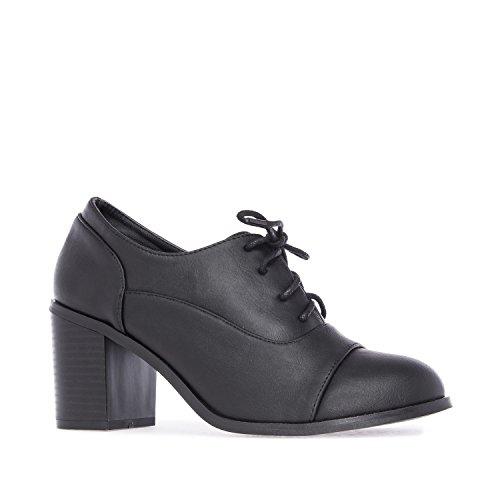 Andres Machado Am 5104 -Oxford-Schuhe in Soft Braun Schwarz