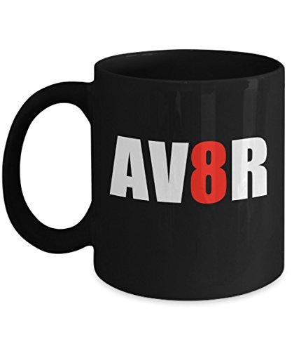 Pilot Mug - AV8R Aviator - Funny Pilot Gifts | Aviation Themed - Aviators For Gifts