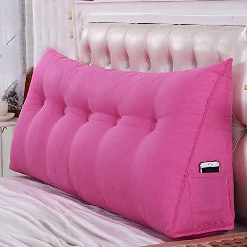 ベッドクッション背もたれ、柔らかく包まれたベッドクッション背もたれ、ベッドルームスタンド、安静時の読書用クッション、洗える5色、5サイズ(色:E、サイズ:150cm)