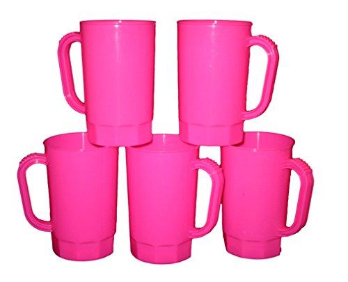 Talisman, Plastic Beer Mugs, 1 Pint , 75 Pack, Pink Color