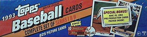 1993 Topps MLB Baseball Factory Sealed Set Featuring Derek Jeter Rookie Card #98 plus Bonus 1994 Promo Cards