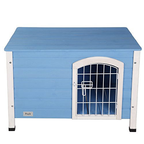 Petsfit 31 lx21 wx21 h indoor dog house wooden with door for House friend door