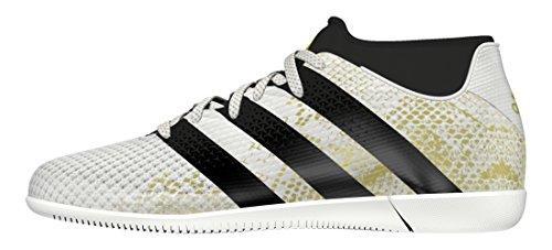 adidas Jungen Ace 16.3 Primemesh in J Fußballschuhe Weiß (Ftwr White/Core Black/Gold Metallic)