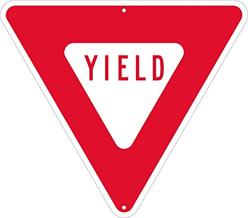 Alum Triangle - National Marker Yield, Triangle, 24 In, .080 Egp Ref Alum Sign