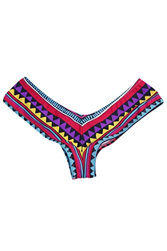 Pink Queen® Women's Brazilian V-style Bikini Swimsuit Bottoms Multi-color L