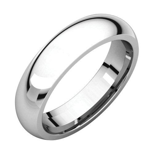Bonyak Jewelry Palladium 5 mm Comfort Fit Band in Palladium - Size 10