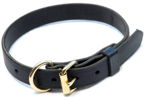 Signature K9 1-Inch Adjustable Leather Collar, 18-22-Inch, Black, My Pet Supplies