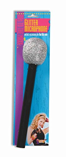 US Toy Glitter Microphone (1 (Kids Pop Star Costumes)