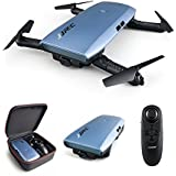 JJR/C Elfie Plus H47 Upgraded Foldable Wifi FPV Drones with 720P HD Camera,Dual Remote Control Mode(Gravity Sensing Control)