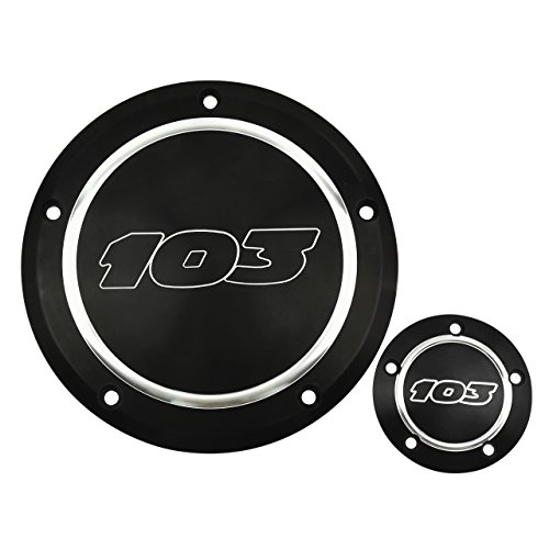 (Rebacker Motorcycle 103 Derby Cover Timing Timer Cover Point Cover for Harley Dyna 99-17 Softail)