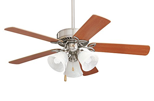 - Emerson Ceiling Fans CF710BS Pro Series II Low Profile Hugger Ceiling Fan With Light, 42-Inch Blades, Brushed Steel Finish