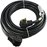 Conntek 14364 RV 30-Amp STW 10/3 Durable Extension Cord with Straight Blade, 50-Feet