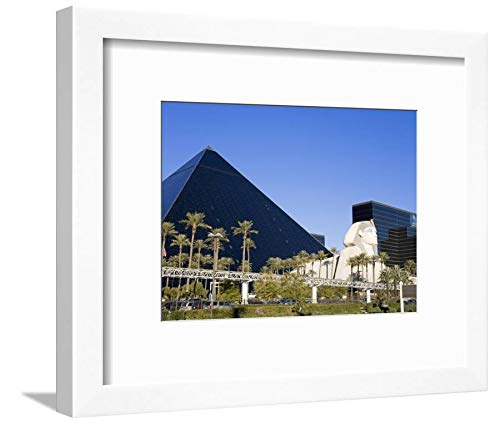 ArtEdge Luxor Hotel and Casino, Las Vegas, Nevada, United States, North America by Richard Cummins, White Matted Wall Art Framed Print, 9 x 12