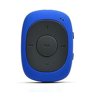 AGPTEK G02 Mini-Clip Reproductor de MP3 8 GB de Capacidad con Radio FM(una Funda Silicona Incluido), Azul