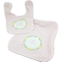 Personalized baby bibs lets personalize that custom baby bib and burp cloth set baby gift for baby girl personalized with name negle Images