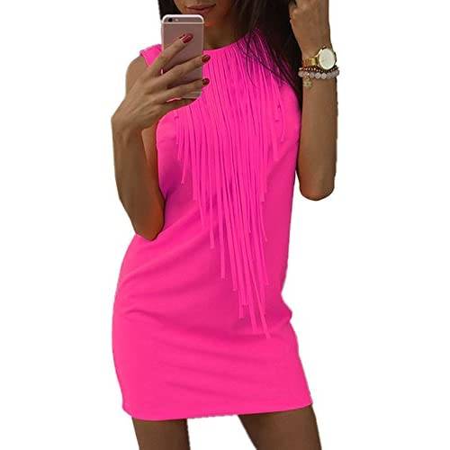 27d0fa28dc El servicio durable Vestido de Verano Mujer Moda Casual Sin Mangas Vestido  de Playa Vestido Corto