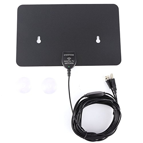 EtekStormX Indoor HDTV Antenna-50 Mile Range with Detachable Amplifier,for High Reception Homeword Antenna for TV - 16ft Coaxial Cable