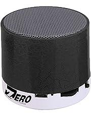 مكبر صوت ذكي Z101 ملون ليد لاسلكي صغير بلوتوث ستيريو محمول يدعم كارت USB / TF / SD من زيرو - اسود