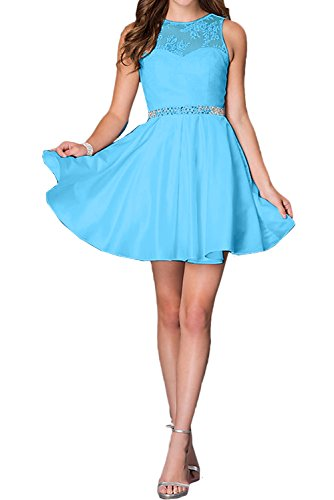 mujer para trapecio Topkleider Vestido Azul tAwpE6Xq