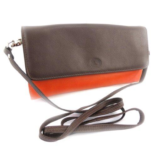 Bolsa de cuero bolsa marrón anaranjado 'Frandi' (2) bellows.