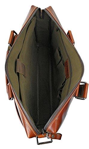 Zerimar Executive Leder Aktentasche Umhängetasche Veranstalter von Dokumenten Farbe braun Größe 39x30x10 cms. Braun10