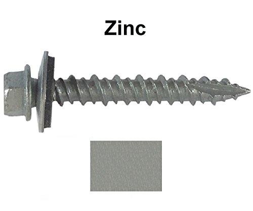 Metal Roofing Screws 250 Screws X 2 Quot Zinc Hex Washer